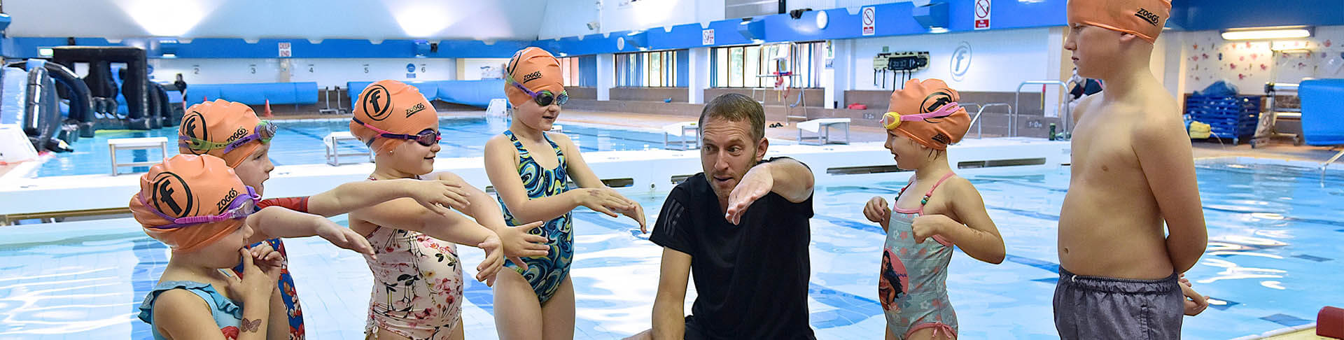 swimming lessons with Freedom Leisure