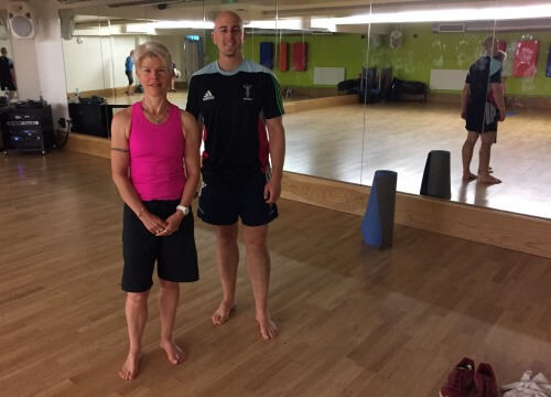me and Jane - Getting into Yoga – because it's important to stretch!