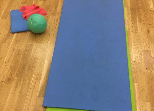 Pilates mat and equipment