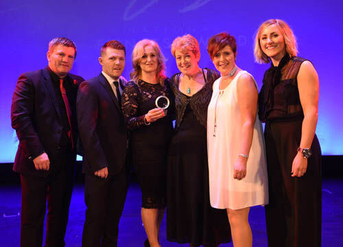 Hailsham team collect their National Fitness Award
