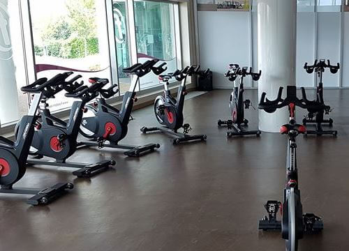 Indoor Cycling bikes at Nene Centre, Thrapston