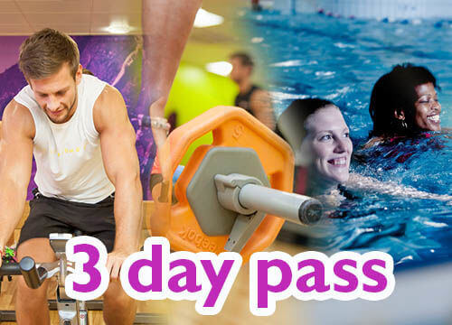 FREE 3-day fitness pass to use at any Freedom Leisure facility! Workout in the gym, make a splash in the swimming pool or try one of many group exercise classes.