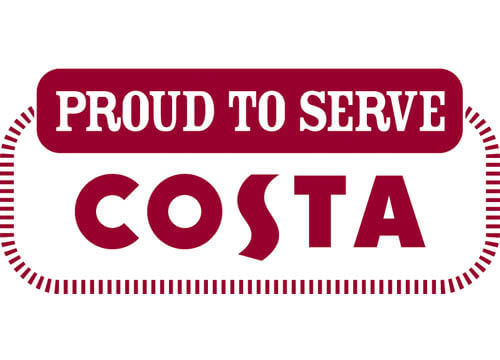 Proud to serve Costa Coffee logo