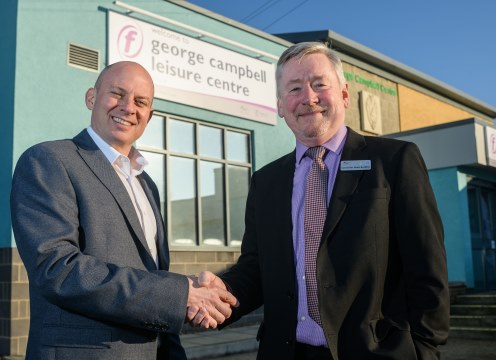 Matt Hunt, Freedom Leisure Operations Director and Cllr Mark Buckton Portfolio Holder for Leisure and Young People Fenland District Council